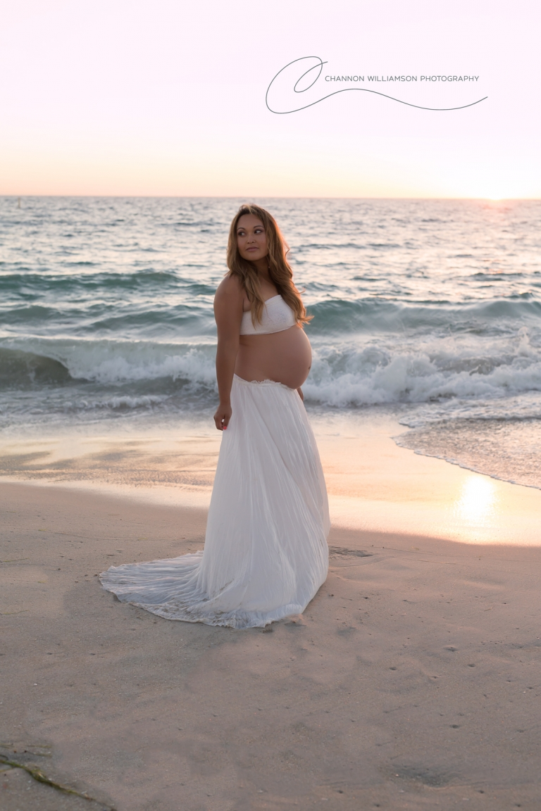Sorrento Beach Maternity Perth Maternity Sunset Photographer