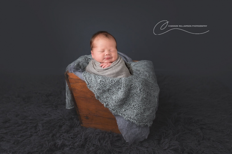 Best Newborn Photo of smiling baby