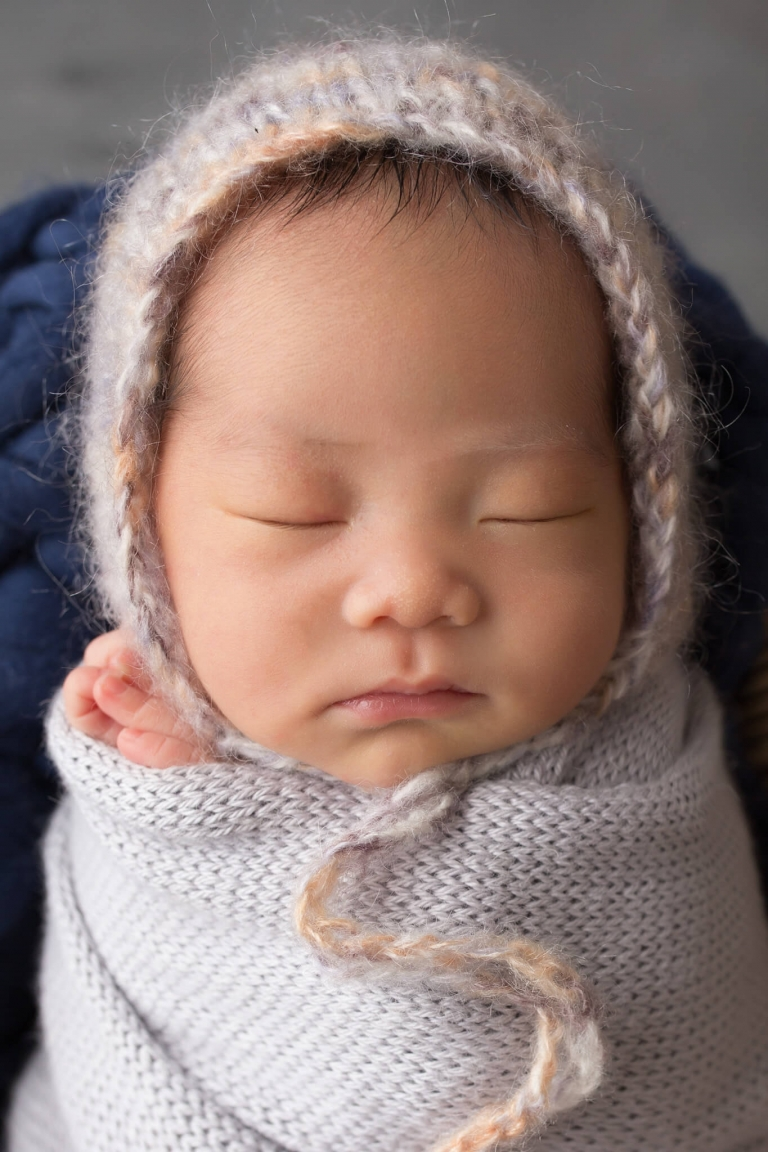 Newborn portrait of a Chinese baby